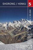 Nepal-Kartenwerk der Arbeitsgemeinschaft für vergleichende Hochgebirgsforschung Shorong / Hinku, Trekking-Karte