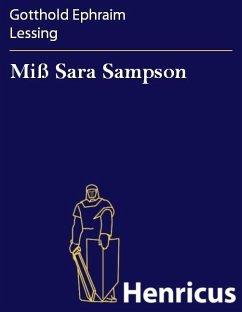 Miß Sara Sampson (eBook, ePUB) - Lessing, Gotthold Ephraim