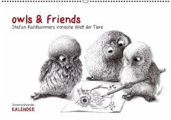 owls & friends Immerwährender Kalender (Wandkalender immerwährend DIN A2 quer)
