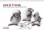 owls & friends Immerwährender Kalender (Wandkalender immerwährend DIN A4 quer)
