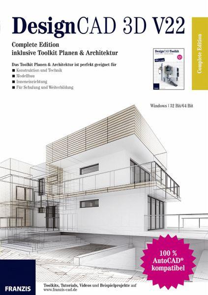 designcad 3d v22 complete edition architektur software. Black Bedroom Furniture Sets. Home Design Ideas