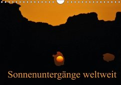 Sonnenuntergänge weltweit (Wandkalender immerwährend DIN A4 quer)
