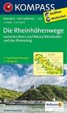 KOMPASS Wanderkarte Die Rheinhöhenwege zwischen Bonn und Mainz/Wiesbaden und der Rheinsteig.