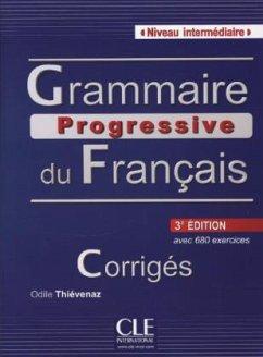 Grammaire progressive du Français, Niveau intermédiaire (3ème édition), Livret de corrigés