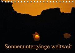 Sonnenuntergänge weltweit (Tischkalender immerwährend DIN A5 quer)