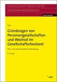 Gründungen von Personengesellschaften und Wechsel im Gesellschafterbestand (eBook, ePUB)