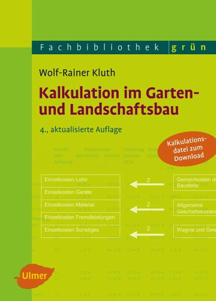 kalkulation im garten und landschaftsbau ebook pdf von wolf rainer kluth. Black Bedroom Furniture Sets. Home Design Ideas