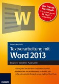 Textverarbeitung mit Word 2013 (eBook, PDF)