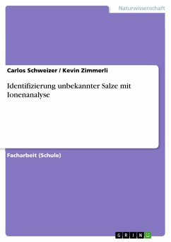 Identifizierung unbekannter Salze mit Ionenanalyse (eBook, PDF)