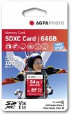 AgfaPhoto SDXC Karte 64GB High Speed Class 10 UHS I U1 V30