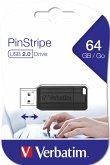 Verbatim Store n Go Pinstripe 64GB USB Stick 2.0 black