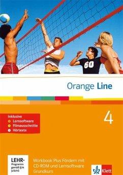 Orange Line. Teil 4: (4. Lernjahr) Grundkurs. Workbook Fördern mit Lösungen, Audio-CD und CD-ROM
