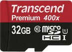 Transcend microSDHC 32GB Class 10 UHS-I 400x + SD Adapter