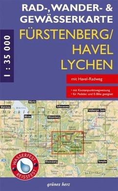 Rad-, Wander- und Gewässerkarte Fürstenberg/Hav...