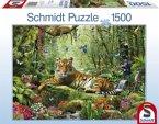 Schmidt Spiele 58188 - Tiger Dschungel, 1500 Teile Puzzle