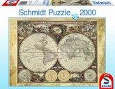 Schmidt 58178 - Historische Weltkarte, 2000 Teile Puzzle