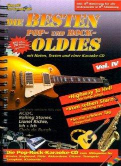 Die besten Pop, Rock Oldies, m. Audio-CD