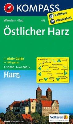 Kompass Karte Östlicher Harz