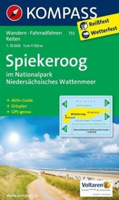 Kompass Karte Spiekeroog im Nationalpark NIedersächsisches Wattenmeer