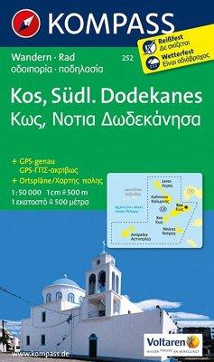 Kompass Karte Kos, Südlicher Dodekanes