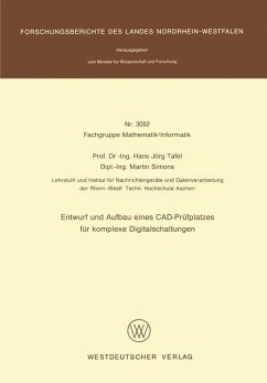 Entwurf und Aufbau eines CAD-Prüfplatzes für komplexe Digitalschaltungen - Tafel, Hans Jörg