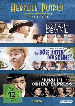 Hercule Poirot Edition (Das Böse unter der Sonne Mord im Orient Express Tod auf dem Nil) DVD-Box - Ustinov,Peter/Finney,Albert