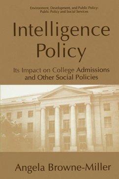 Intelligence Policy - Browne-Miller, Angela