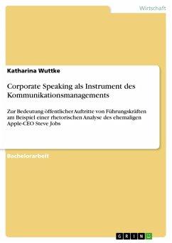 Corporate Speaking als Instrument des Kommunikationsmanagements (eBook, PDF)