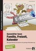 Ganzwörter lesen: Familie, Freizeit, Kalender (eBook, PDF)