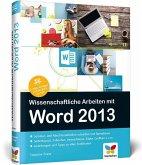 Wissenschaftliche Arbeiten mit Word 2013