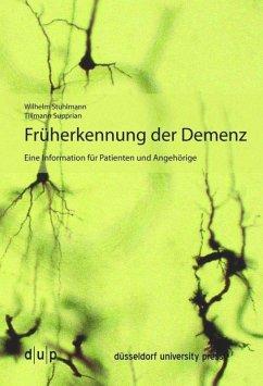 Früherkennung der Demenz - Stuhlmann, Wilhelm; Supprian, Tillmann