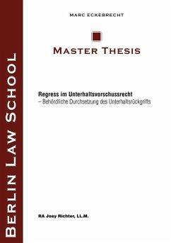 Regress im Unterhaltsvorschussrecht (eBook, ePUB)