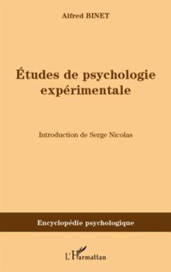 Etudes de psychologie experimentale (eBook, PDF)