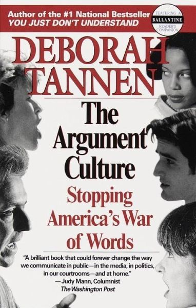 tannens argument culture 50 | language, gender, and culture csu expository reading and writing course | semester two reading selectins his politeness is her powerlessness by deborah tannen an excerpt from you just.