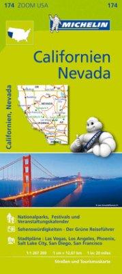 Michelin Karte Californien, Nevada