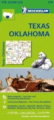 Michelin Karte Texas, Oklahoma