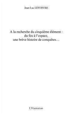 la recherche cinquieme element-Du feu (eBook, ePUB)