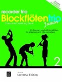 Blockflötentrio Junior für drei Blockflöten (Sopran- und Altblockflöten), Spielpartitur