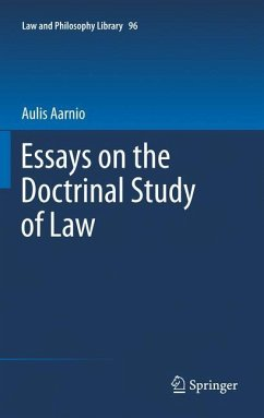 Essays on the Doctrinal Study of Law - Aarnio, Aulis