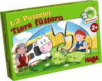 HABA 7467 - 1, 2, Puzzelei - Tiere füttern, Bauernhof, Meine erste Spielwelt