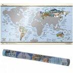 Travelmap, illustrierte Weltkarte, plano, Scratch Edition