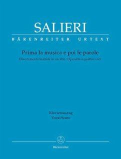 Prima la musica e poi le parole, Klavierauszug - Salieri, Antonio