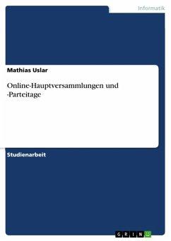 Online-Hauptversammlungen und -Parteitage (eBook, ePUB)