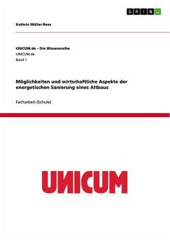 Möglichkeiten und wirtschaftliche Aspekte der energetischen Sanierung eines Altbaus (eBook, ePUB)