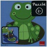 Goula D53122 - Holzpuzzle 3 Stufen Frosch, 8-teilig