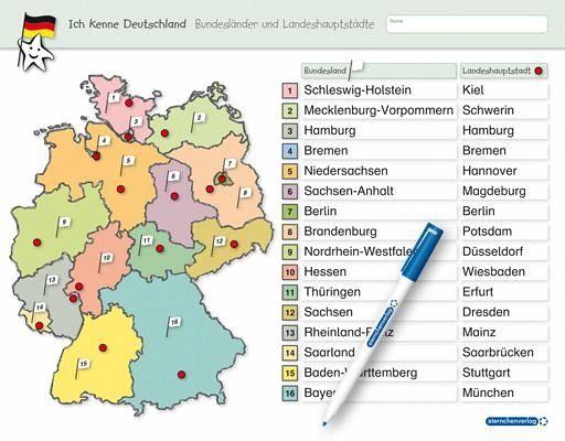 Ich Kenne Deutschland Bundeslander Und Landeshauptstadte Von