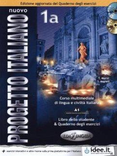 Libro dello studente & Quaderno degli esercizi, m. CD-ROM und Audio-CD / Nuovo Progetto italiano Vol.1A