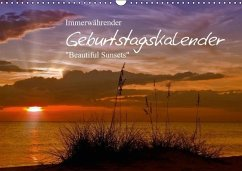 Immerwährender Geburtstagskalender - Beautiful Sunsets (Wandkalender immerwährend DIN A3 quer) - Viola, Melanie