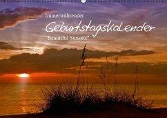Immerwährender Geburtstagskalender - Beautiful Sunsets (Wandkalender immerwährend DIN A2 quer)