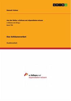 Das Schikaneverbot (eBook, PDF)